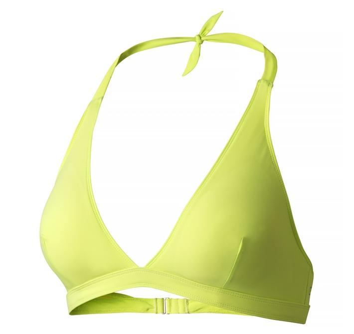 Halterneck bikini top